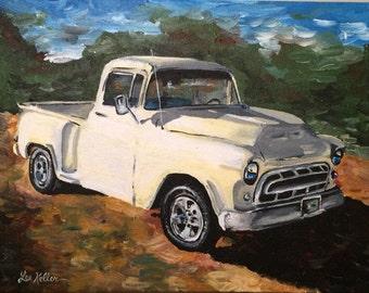57 Chevy Truck Art, Classic Truck Art Print