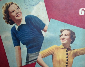 1940's Knitting Book - Weldon's Lightweight Woollies - Jumper - Cardigan