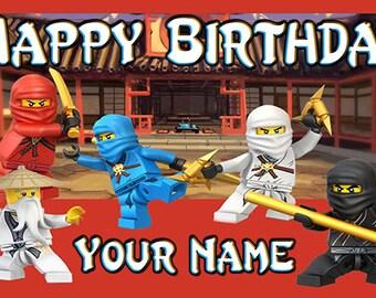 Ninjago Birthday Banner