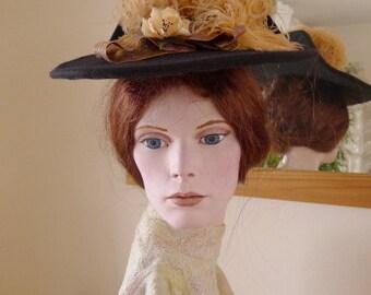 Felt hat für Gibson Girls / Belle Epoque / 1895