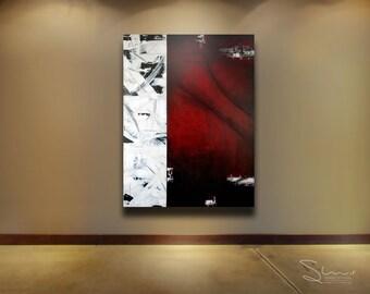 ORIGINAL Modern Art Abstract Painting Wall Decor Mixed Media Acrylic Painting on Canvas, Toronto