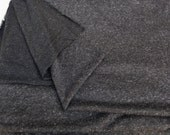 Unique High End Speckled Charcoal Gray Polyester Linen French Terry Knit Fabric by the Yard