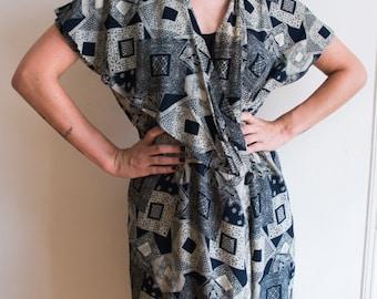 Vintage Oversized Pattern Dress/Kimono