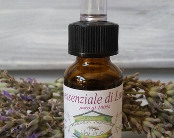 100% pure Lavender Officinalis essential oil 10 ml produced in Tuscany, Italy