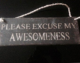 please excuse my awesomeness.
