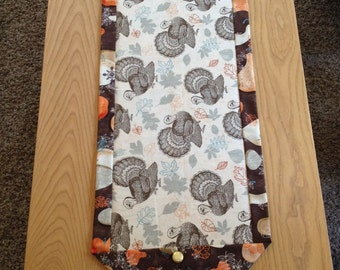 Thanksgiving Turkey/Gourds Table Runner