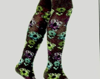 Printed leg warmers(gaiters), made in France