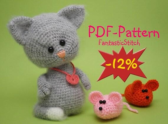 Crochet Pattern Amigurumi Cat Mouse Tutorial by ...