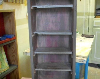 colorful wooden wall cabinet