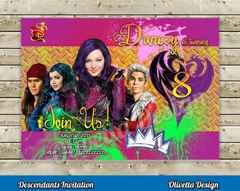 Descendants Invitation for Birthday Party - Digital File
