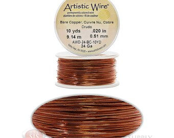 24 Gauge Copper Artistic Craft Wire 30 Feet 9.14 Meters Jewelry Beading Crafts (Free Shipping USA)