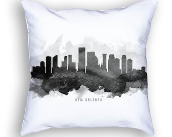 New Orleans Pillow, 18x18, New Orleans Skyline, New Orleans Cityscape, Cushion, Home Decor, Gift Idea, Pillow Case 11