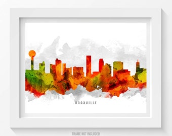 Knoxville Tennessee Skyline Poster, Knoxville Cityscape, Knoxville Art, Knoxville Decor, Home Decor, Gift Idea, USTNKX15P