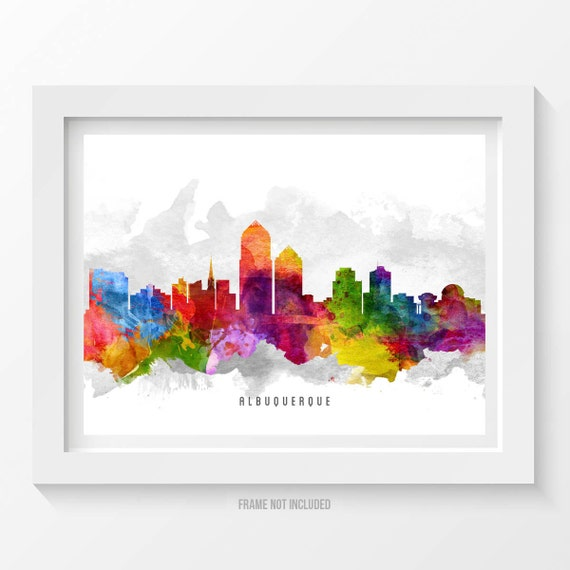 home decor stores in albuquerque albuquerque new mexico skyline poster albuquerque cityscape 12490