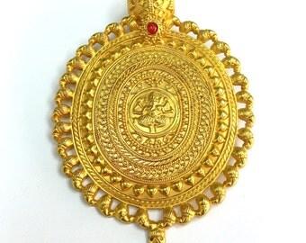 14K Gold Designer Pendant, Pendants, Findings, Women's Jewelry, Jewelry Findings, Pendant Necklace, Gold Pendant Necklace for Jewelry Making
