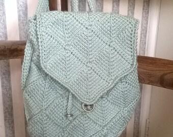 Tunisian Diamond Bag