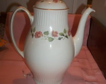 Wedgwood India Rose Coffee Pot