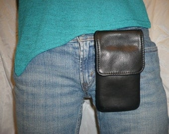 Wearable padded leather smart phone case #767-4
