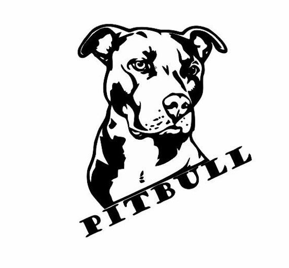 Pitbull Decals For Cars And Walls: Dog Lover By TiffinsDesigns