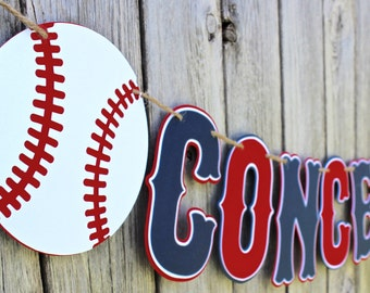 Baseball Concessions Banner - Baseball Birthday Banner - Baseball Baby Shower - Baseball Happy Birthday Banner