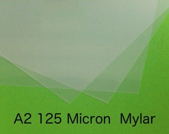 A2 Blank Stencil Material Mylar 125 micron A2 420 x 594 mm16.5  x 23.4 in  Free Shipping Washable Reusable