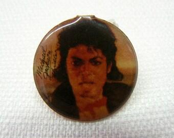 Vintage Early 80s (1982) Michael Jackson / Thriller Album Promotional Enamel Pin / Button / Badge