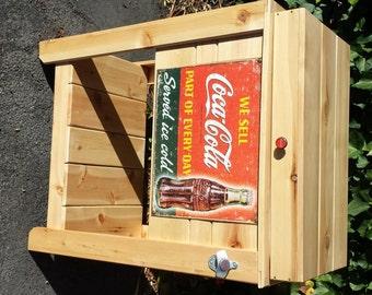 Rustic Coca Cola Ice Chest