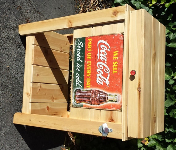 rustic coca cola ice chest. Black Bedroom Furniture Sets. Home Design Ideas