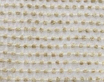 Modern Textured Upholstery Fabric-  Contemporary Creme Tone on Tone - Textured Upholstery Fabric By The Yard