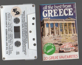 All The Best FROM GREECE 20 Great Favourites Cassette Tape Vintage Audio Music