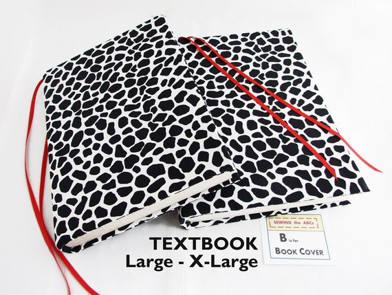 Large Fabric Book Cover : Book cover in animal print l xl stretch fabric