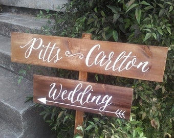 Directional/Road Wedding Sign // Stake Sign