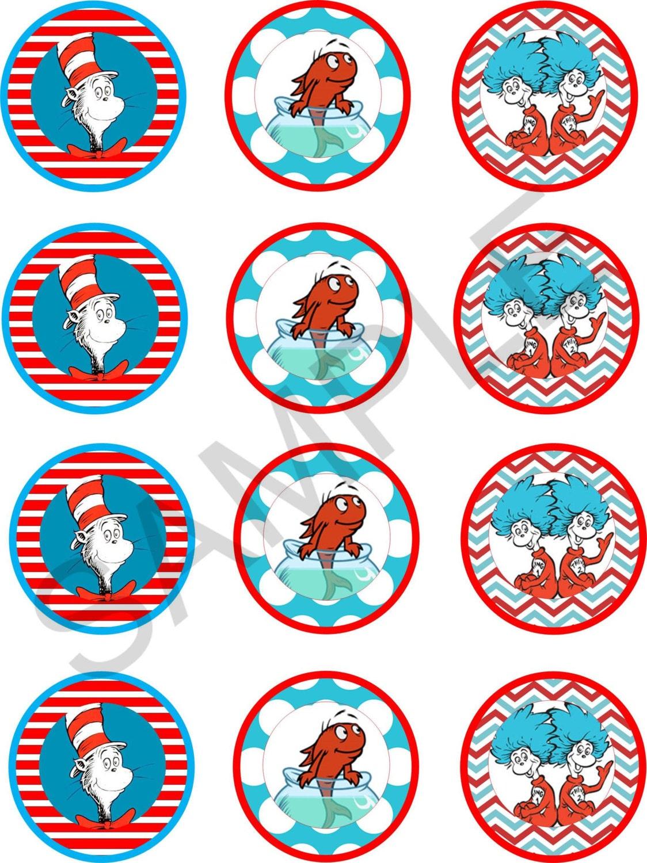 Dr Seuss Cupcake Toppers Printable