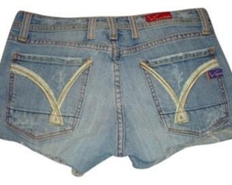 Frayed jean shorts | Etsy