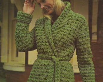 Vintage Green Jacket PDF crochet pattern , download pattern