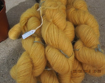 Icelandic pure wool, hand dyed with the root of Rheum rhabarbarum  0413-3