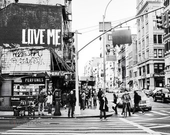 Love Graffiti, New York, wall art, home decor, travel photography fine art black & white city