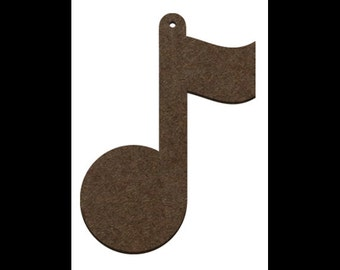 Wood Ornament- Musical Note - WDSF259