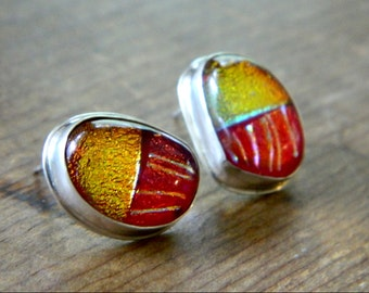 Red and Gold Dichroic Stripes