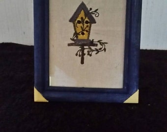 Handmade Primitive/Americana picture with frame
