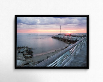 Landscape Photography Sunrise Over Sea Print 45x30cm