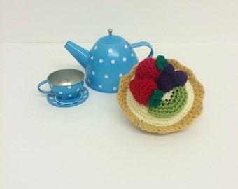 Play Food Crochet Fruit Tart, Gift, Amigurumi