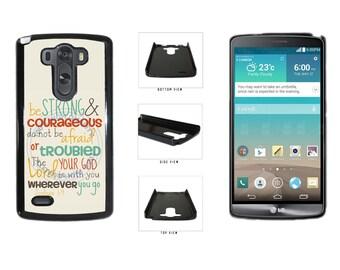 Colorful Joshua 1:9 Bible Verse Phone Case - LG G3 G4 Nexus 5 6 Sony Xperia Z1 Z4 HTC One M7 Moto G