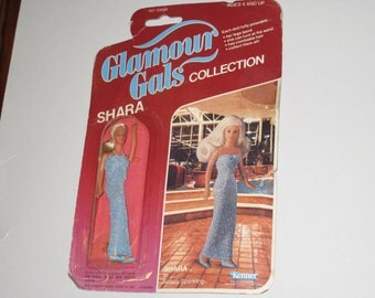 """1981 KENNER Glamour Gals """"Shara"""" Miniature Doll in Original Package"""