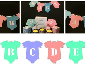 Onesie Bunting Banner....SVG Digital Download....Commercial Use Allowed