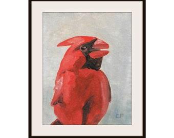 Cardinal - Original Painting