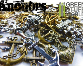 Set 85gr. - ANCHOR Beads Mix - 20-25 units - sizes 1-5cm - Pirate Steampunk set