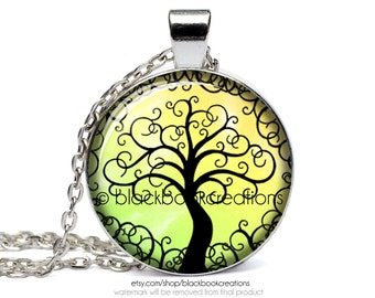 Yellow Tree Of Life Necklace - Handmade