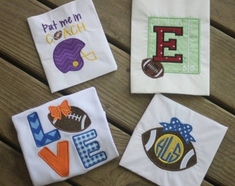 Personalized Embroidered Football School Spirit Shirt or Onesie
