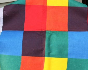 Fabulous Vintage Multi Colored Fabric